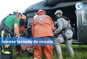 Intensa jornada de rescate fue efectuada por su Fuerza Aérea Colombiana en el Meta