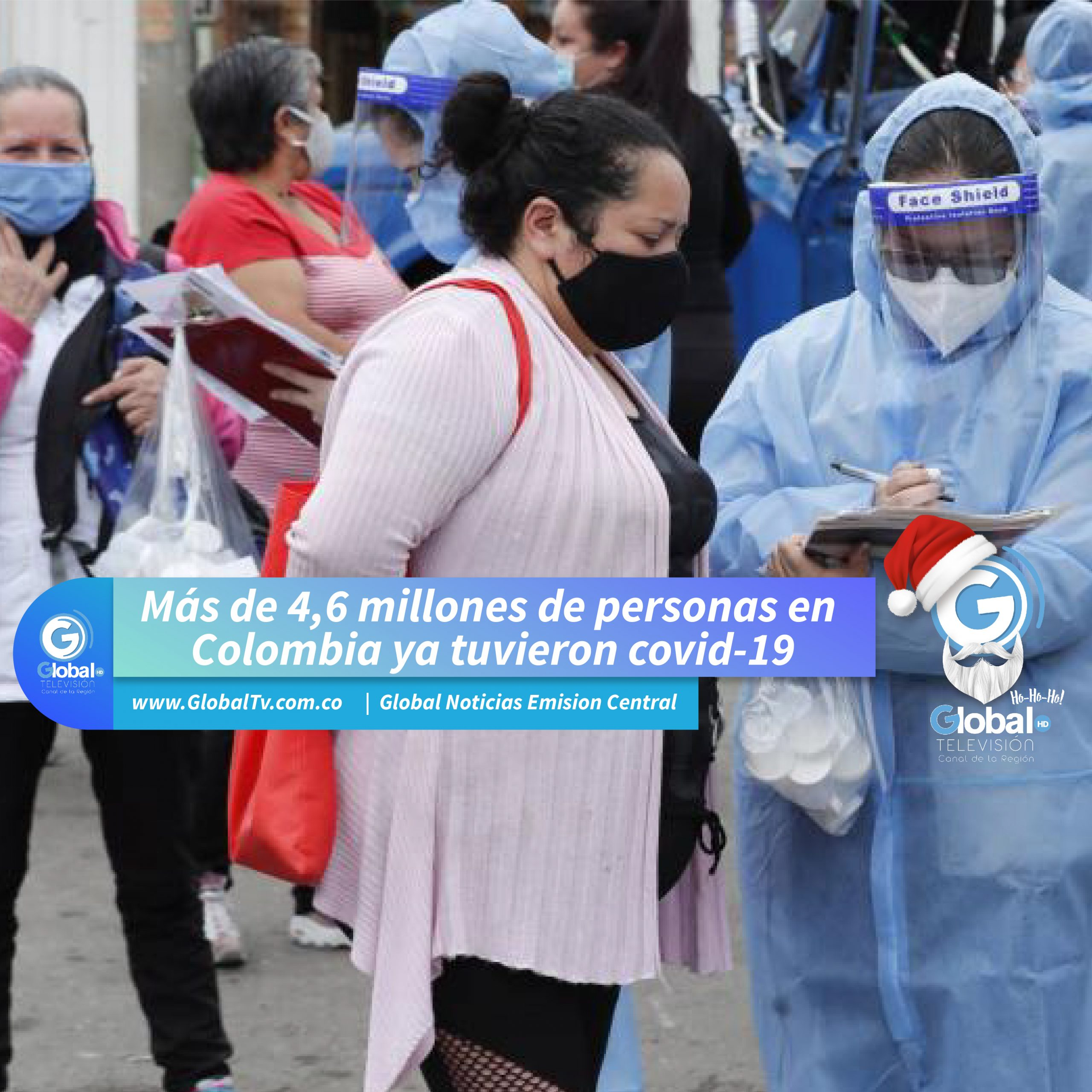 Más de 4,6 millones de personas en Colombia ya tuvieron covid-19