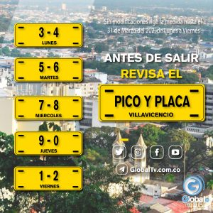 Pico y Placa Villavicencio 2021