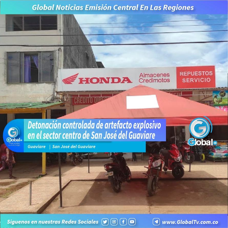 Detonación controlada de artefacto explosivo en el sector centro de San José del Guaviare