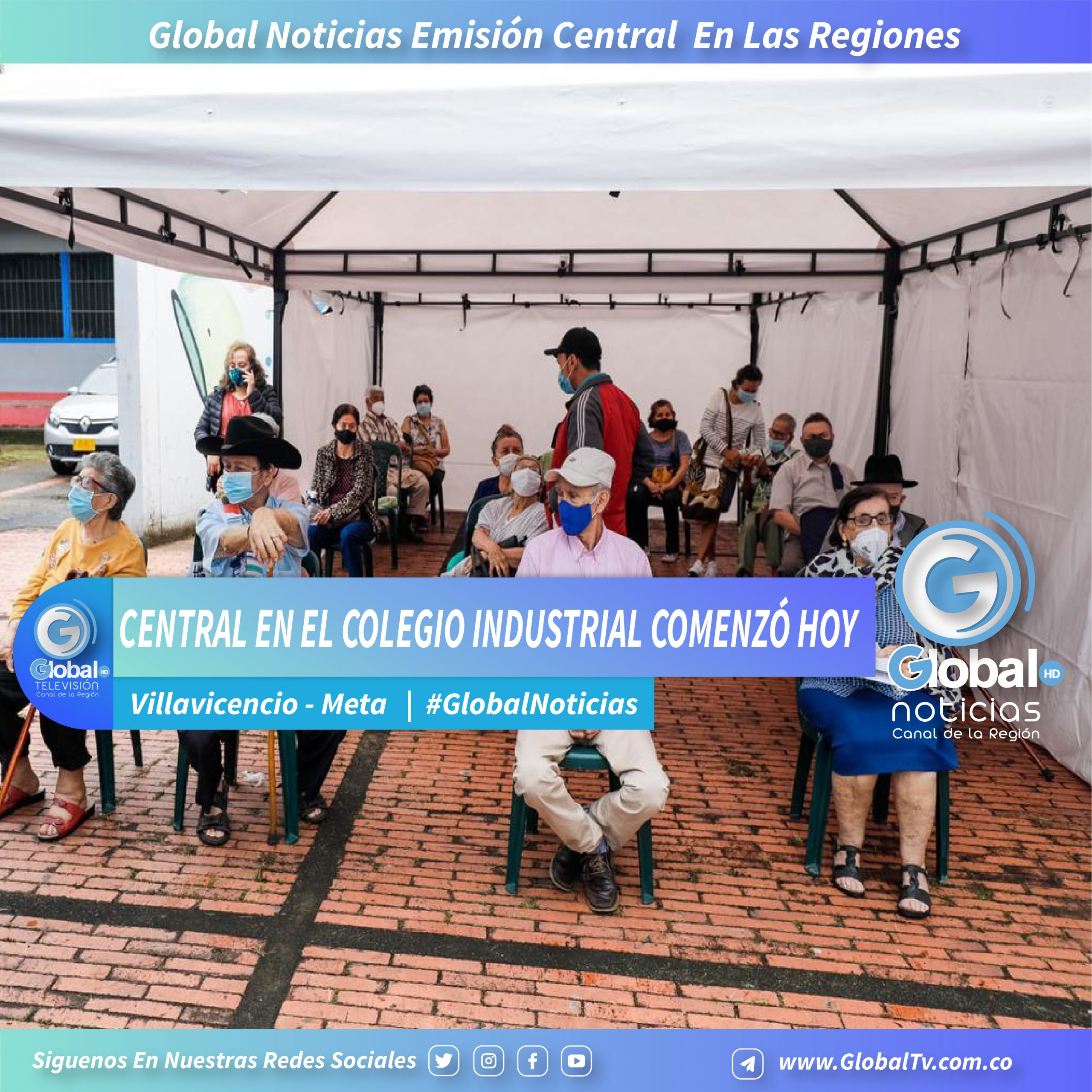 Con Central En El Colegio Industrial Comenzó Hoy En Villavicencio La Vacunación Masiva Y Sin Barreras