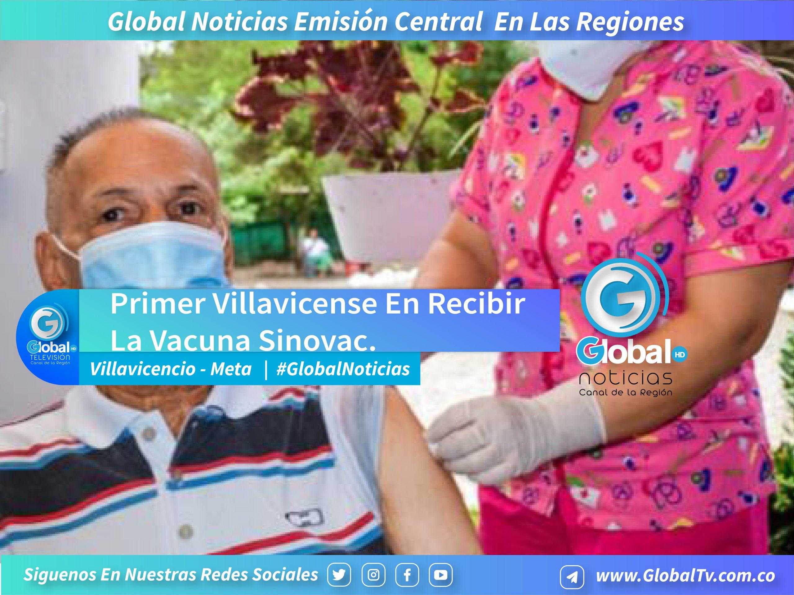 Gustavo Osorio, De 82 Años, Se Convirtió En El Primer Villavicense En Recibir La Vacuna Sinovac En La Ciudad