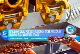 EN EL MARCO DE LOS PDET, RESGUARDO NASA RECIBE DOTACIÓN DE MÁQUINAS PARA LABORATORIO DE CAFÉ