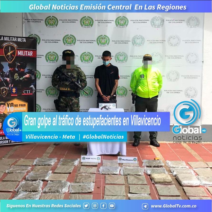 Gran golpe al tráfico de estupefacientes en Villavicencio