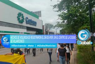 HECHOS DE VIOLENCIA SE REGISTRARON EL DÍA DE AYER, EN EL CENTRO DE LA CIUDAD DE VILLAVICENCIO