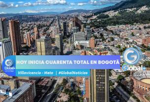Hoy inicia cuarenta total en Bogotá
