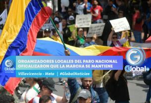 ORGANIZADORES LOCALES DEL PARO NACIONAL OFICALIZARON QUE LA MARCHA SE MANTIENE EN PIE