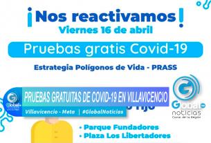 PRUEBAS GRATUITAS DE COVID-19 EN VILLAVICENCIO