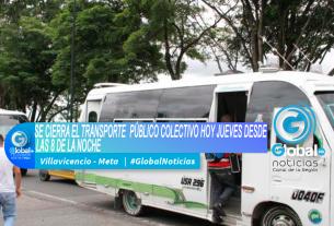 SE CIERRA EL TRANSPORTE PÚBLICO COLECTIVO HOY JUEVES DESDE LAS 8 DE LA NOCHE