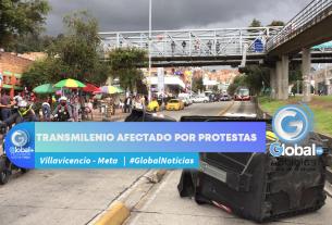 Transmilenio afectado por protestas