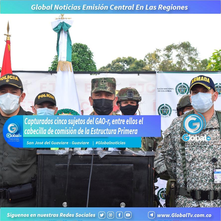 Capturados cinco sujetos del GAO-r en el Guaviare