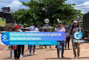 Así fueron las manifestaciones en la capital del departamento del Guaviare