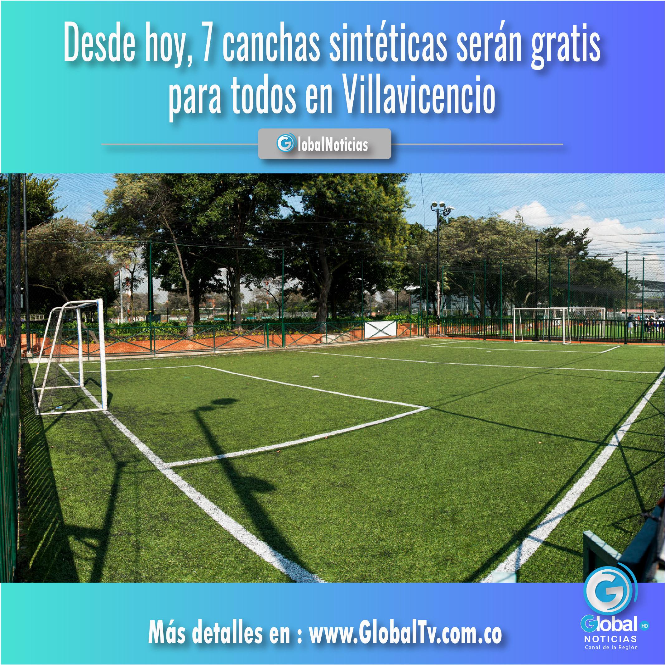 Desde hoy, 7 canchas sintéticas serán gratis para todos en Villavicencio