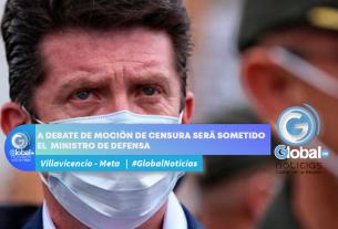 A DEBATE DE MOCIÓN DE CENSURA SERÁ SOMETIDO EL MINISTRO DE DEFENSA