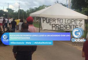 ALCALDÍA DE PUERTO LOPEZ LLEGÓ A UN ACUERDO CON LOS TRANSPORTADORES