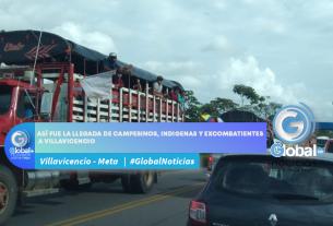 Campesinos, indígenas y excombatientes llegan a Villavicencio