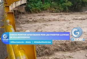 Cinco puntos afectados por las fuertes lluvias en Villavicencio
