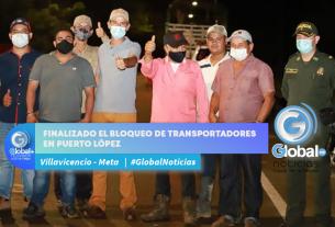 Finalizado el bloqueo de transportadores en Puerto López