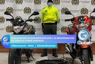 INCAUTACIÓN DE DOS MOTOCICLETA Y LA RECUPERACIÓN DE CABLE DE COBRE HURTADO