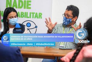 Jornada de vacunación para docentes de Villavicencio mayores de 60 años