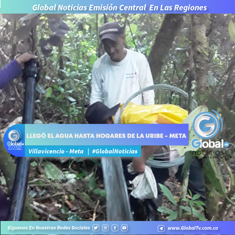 Llegó el agua hasta hogares de la Uribe - Meta, gracias a esfuerzos de la comunidad , Ejército y Alcaldía