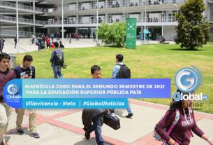 Matrícula cero para el segundo semestre de 2021 para la educación superior pública país