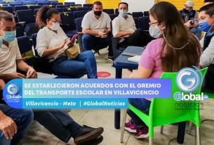 SE ESTABLECIERON ACUERDOS CON EL GREMIO DEL TRANSPORTE ESCOLAR EN VILLAVICENCIO