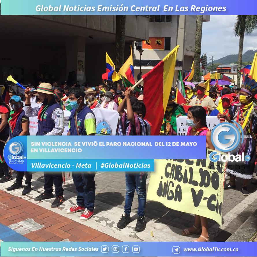 Sin violencia se vivió el Paro Nacional del 12 de mayo en Villavicencio