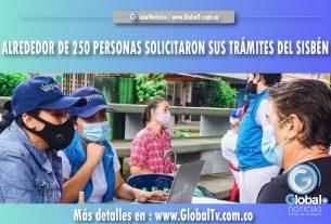 ALREDEDOR DE 250 PERSONAS SOLICITARON SUS TRÁMITES DEL SISBÉN
