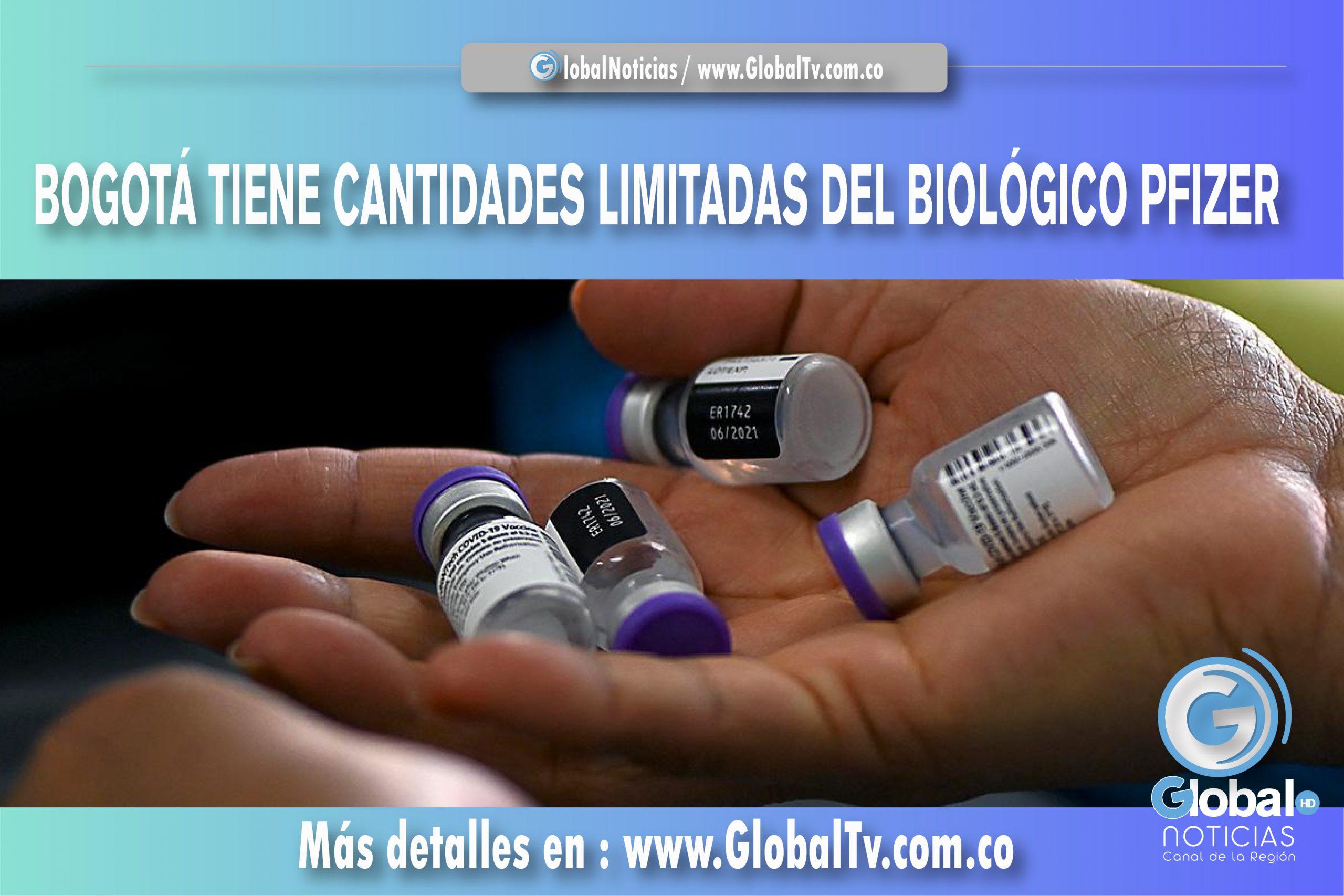 BOGOTÁ TIENE CANTIDADES LIMITADAS DEL BIOLÓGICO PFIZER