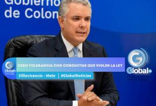 CERO TOLERANCIA CON CONDUCTAS QUE VIOLEN LA LEY