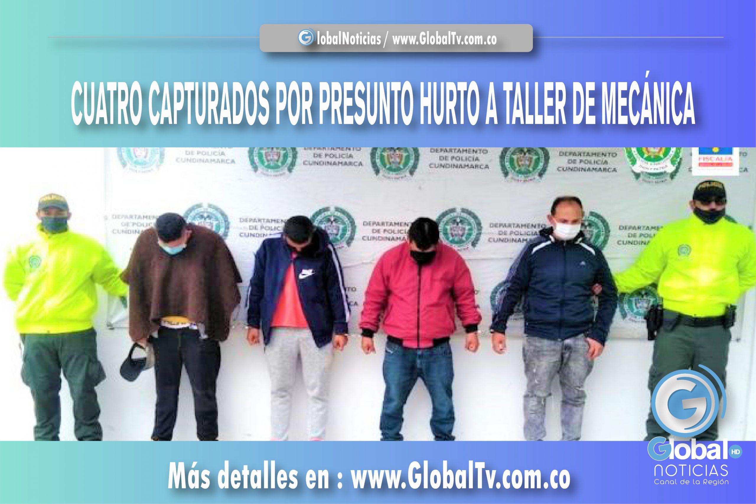 CUATRO CAPTURADOS POR PRESUNTO HURTO A TALLER DE MECÁNICA