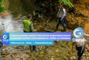 Cormacarena abrirá procesos sancionatorios a quienes están contaminan el caño La Cuerera