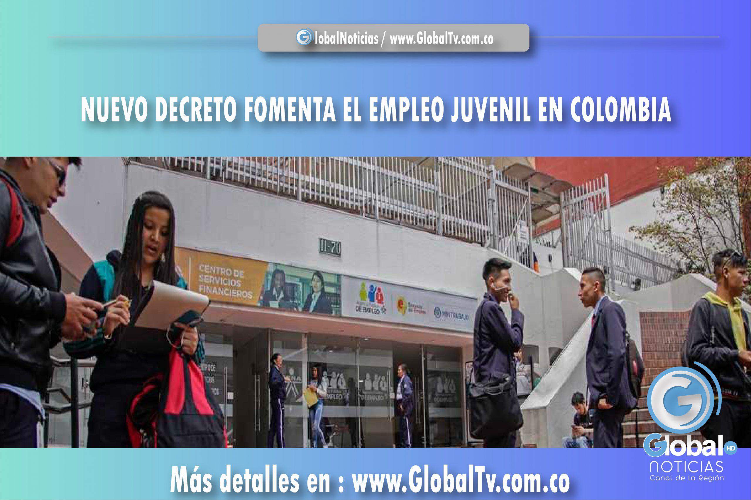 NUEVO DECRETO FOMENTA EL EMPLEO JUVENIL EN COLOMBIA