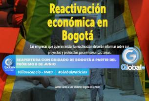 Reapertura con cuidado de Bogotá a partir del próximo 8 de junio