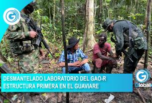 DESMANTELADO LABORATORIO DEL GAO-R ESTRUCTURA PRIMERA EN EL GUAVIARE