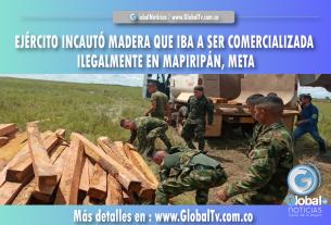 EJÉRCITO INCAUTÓ MADERA QUE IBA A SER COMERCIALIZADA ILEGALMENTE EN MAPIRIPÁN, META