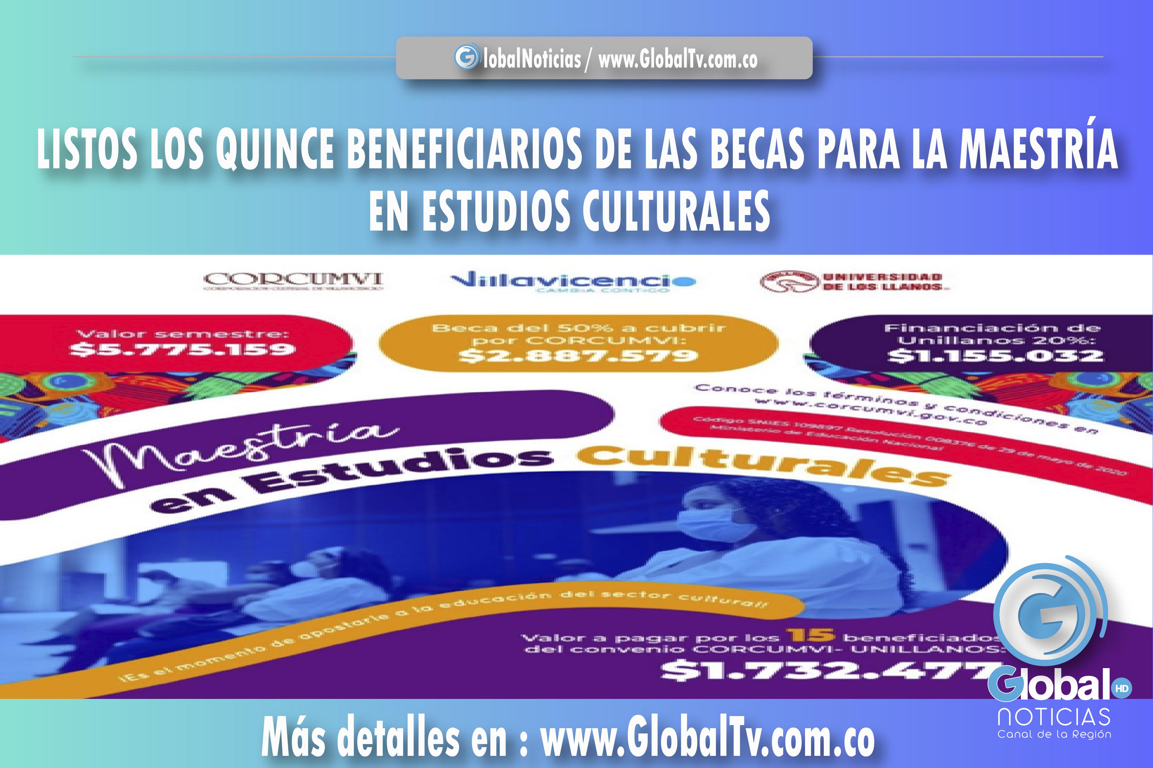 LISTOS LOS QUINCE BENEFICIARIOS DE LAS BECAS PARA LA MAESTRÍA EN ESTUDIOS CULTURALES