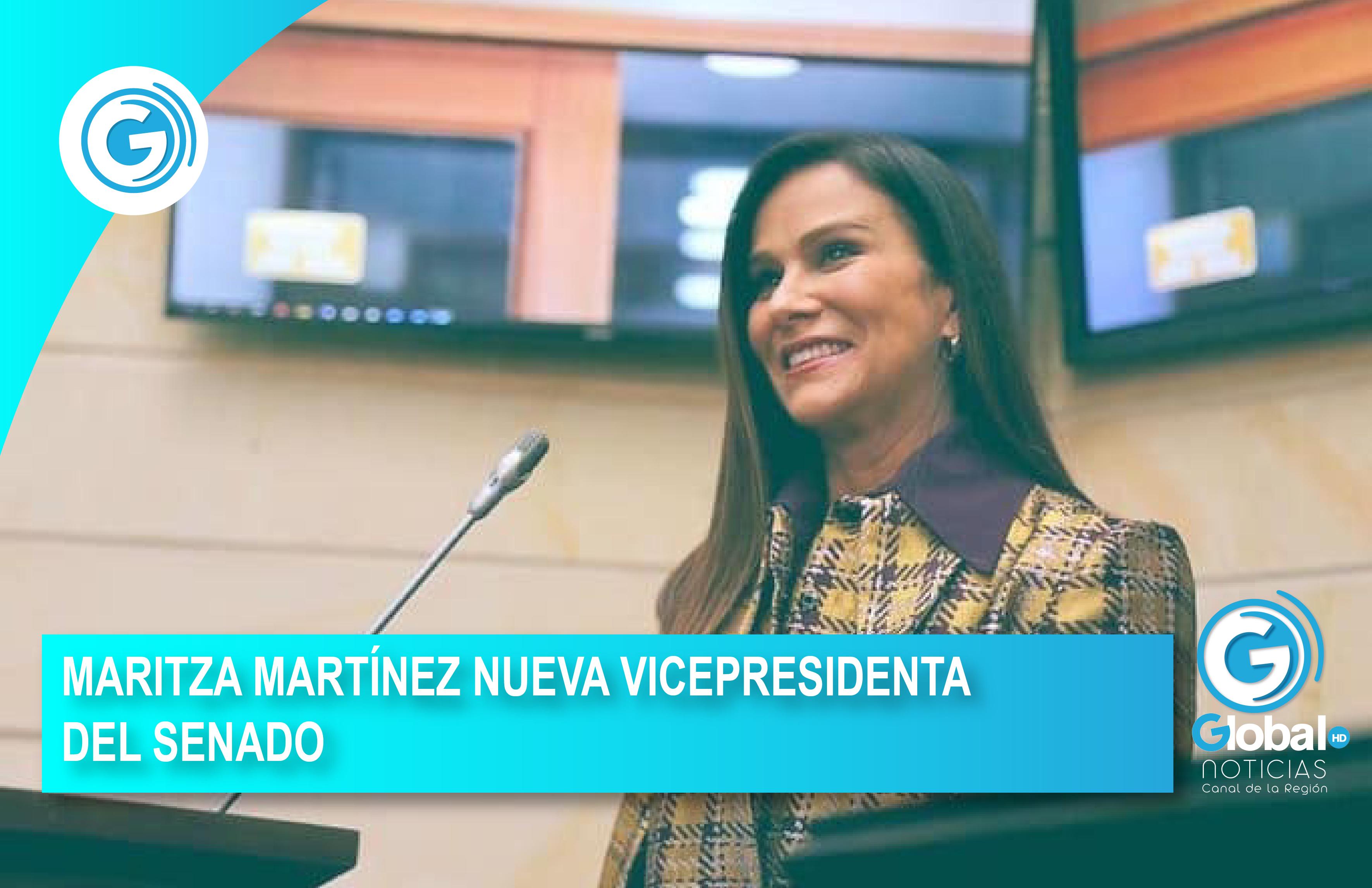 MARITZA MARTÍNEZ NUEVA VICEPRESIDENTA DEL SENADO