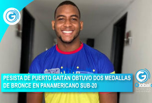PESISTA DE PUERTO GAITÁN OBTUVO DOS MEDALLAS DE BRONCE EN PANAMERICANO SUB-20
