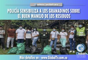 POLICÍA SENSIBILIZA A LOS GRANADINOS SOBRE EL BUEN MANEJO DE LOS RESIDUOS