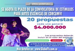SE AGOTA EL PLAZO DE LA CONVOCATORIA DE ESTÍMULOS PARA ARTES ESCÉNICAS DE CORCUMVI